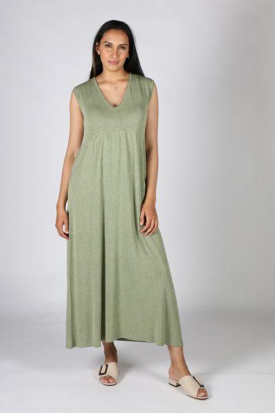 Indi & Cold Waisted Dress in Khaki