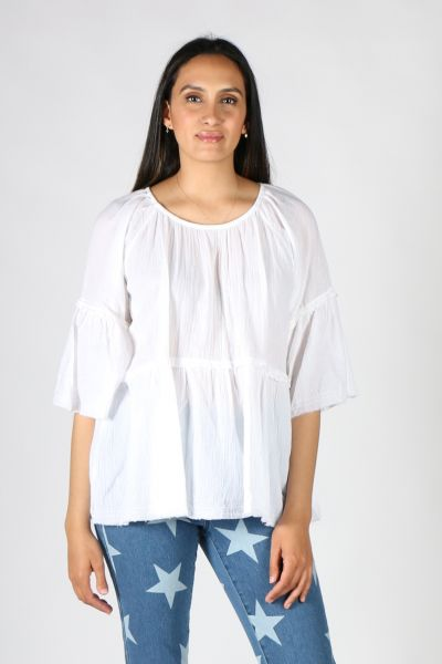 Namastai Holiday Shirt In White