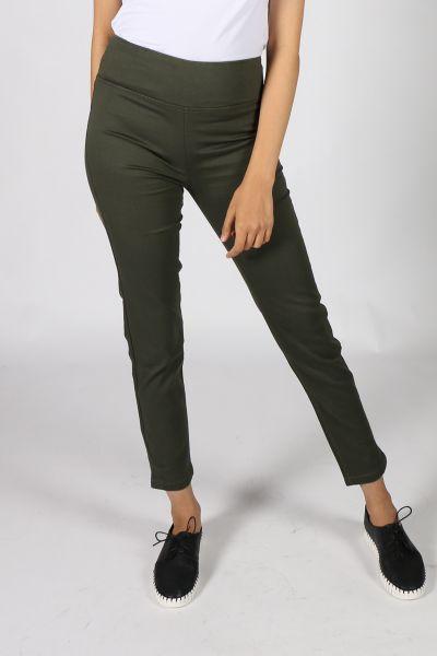 Conchita Kickpleat Legging In Khaki