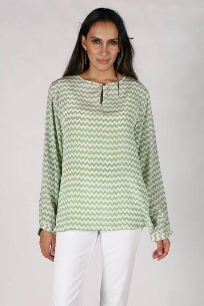 Green Silk Raja Shirt By Anupamaa