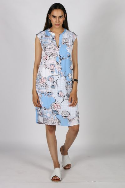 Marco Polo Spring Floral Dress In Print