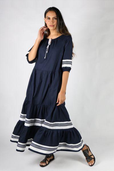 Bagruu Agra Dress In Navy