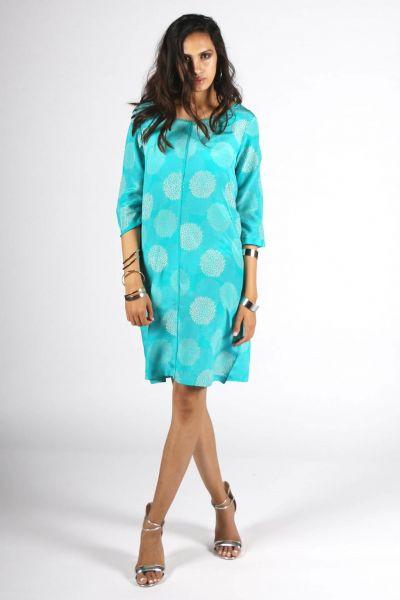 Rasa Aqua Silk Aisha Dress