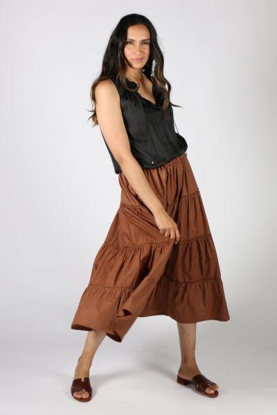 Bagruu Diwali Skirt In Bark