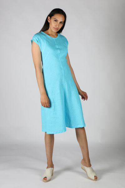 Haris Cotton Flare Dress In Electric