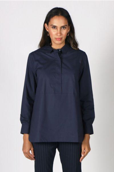Goondiwindi Cotton Classic Shirt In Navy