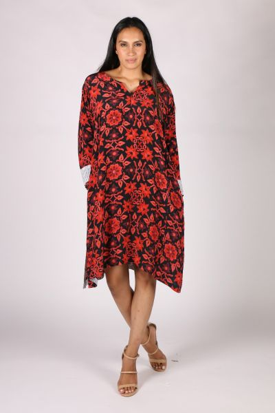 Anupamaa Harmony Garden Dress In Red