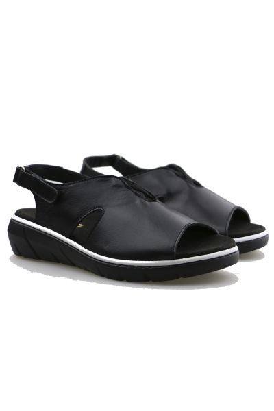 Front Open Sandals by Torretti in Black