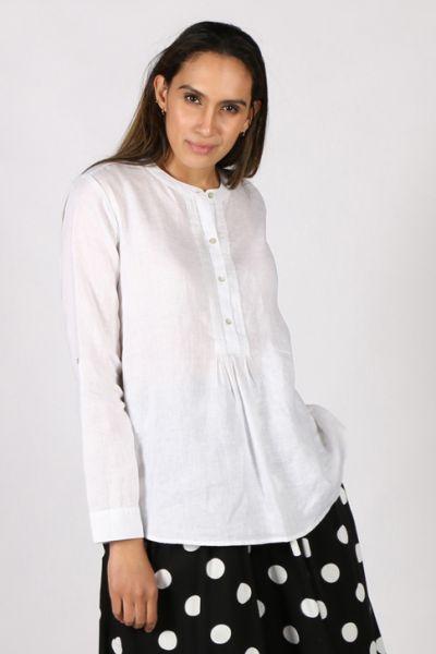 Goondiwindi Cotton Pintuck Shirt in White