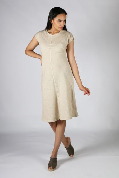 Haris Cotton Flare Dress In Natural