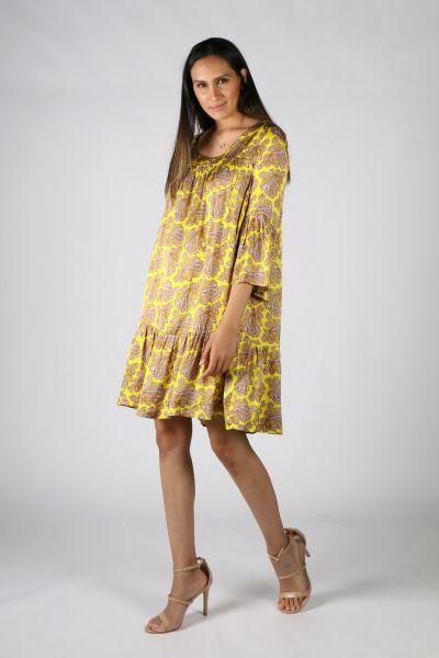 Funky Staff Minnesota Summer Dress In Yellow