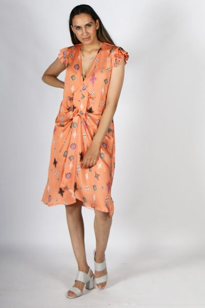 Mah Dianne Dress In Orange