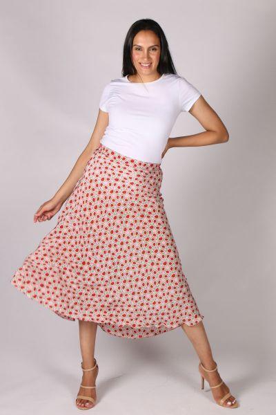 Anupamaa Bias Turkisk Tile Skirt In Pink