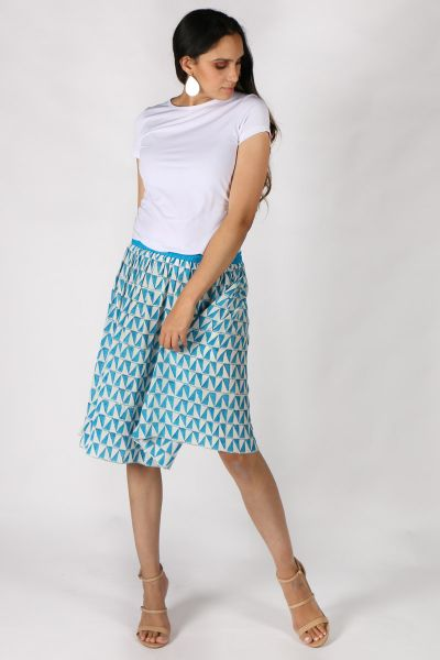 Blue Silk Gajari Skirt By Anupamaa