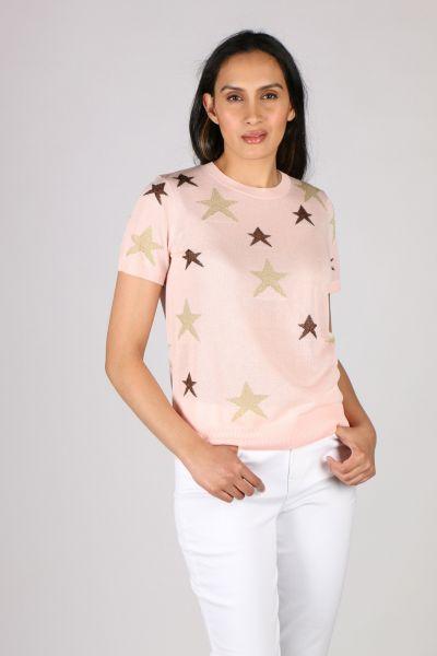 Gabby Isabella Star Crop Jumper In Pink