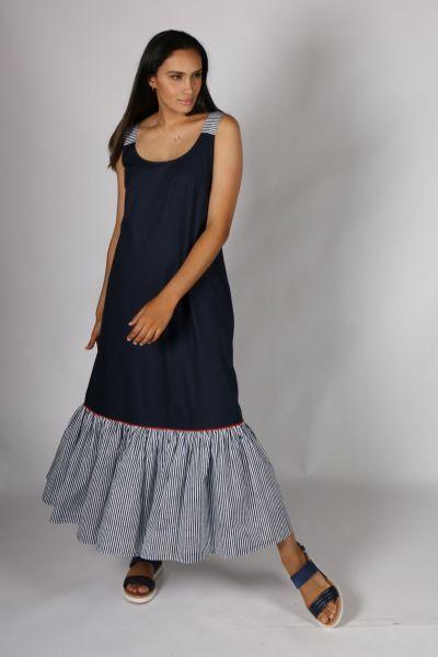 Bagruu Abha Dress In Stripe