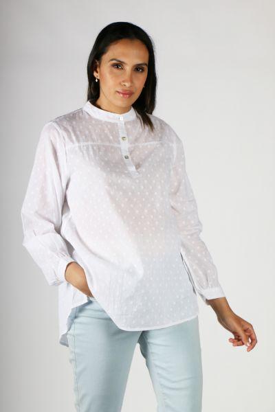 Conchita Raindrop Spot Shirt In White