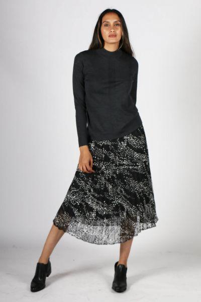 Foil Yes Pleats Skirt In Print