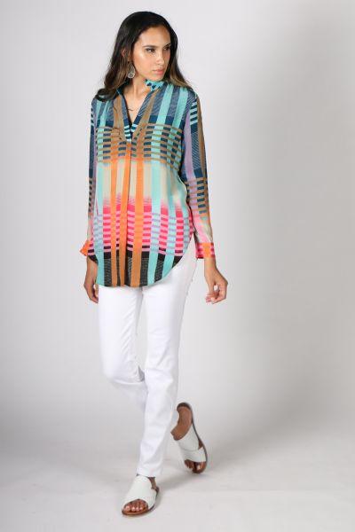 Printed Rasa Olive Goli Shirt In Print