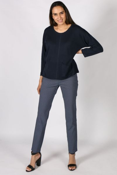 Marco Polo Tailored Pant In Navy
