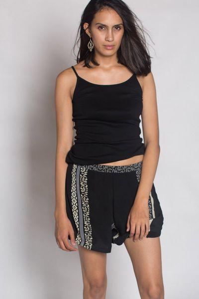 Black Crop Shorts By Anupamaa