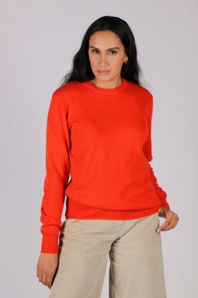 C & Co Classic Jumper In Orange