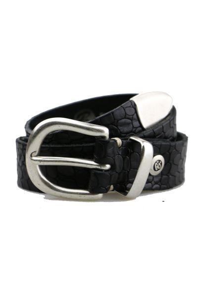 Croc Belt By B.Belt In Black