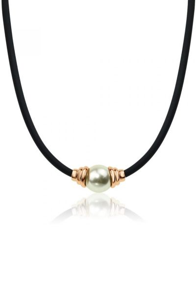 Jantan Capped Pearl Necklace in Rose Gold
