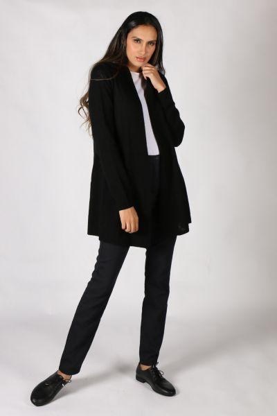 Esperance & Co Longline Cardigan In Black