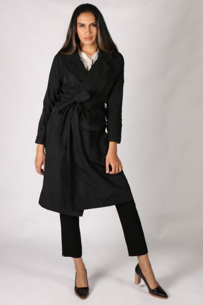 Foil Crunch Time Trench In Black