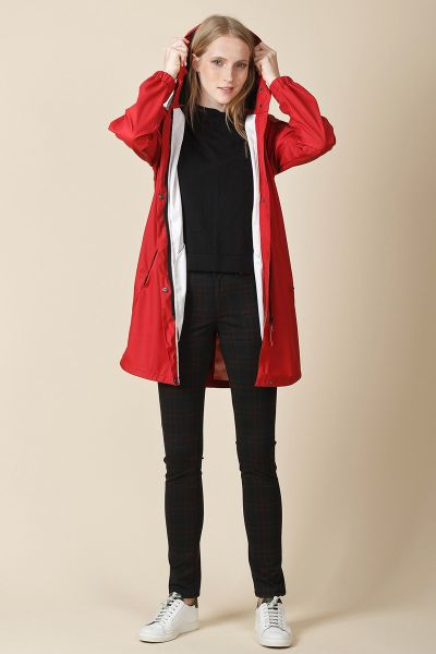 Indi & Cold Waterproof Jacket In Cherry