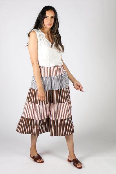 Bagruu Rakhi Skirt In Multi