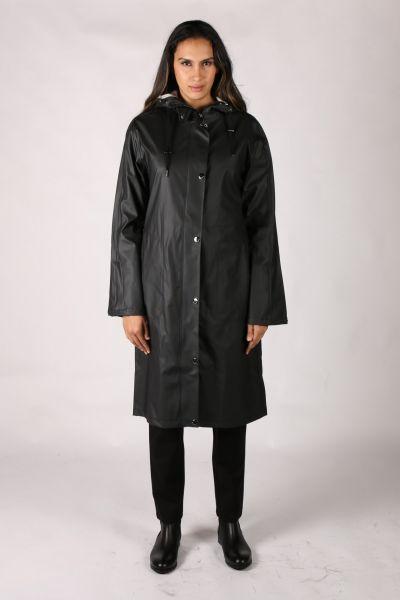 Ilse Jacobsen Over The Knee Raincoat In Black