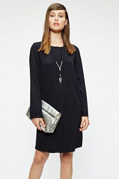Sacks Pleated Black Dress