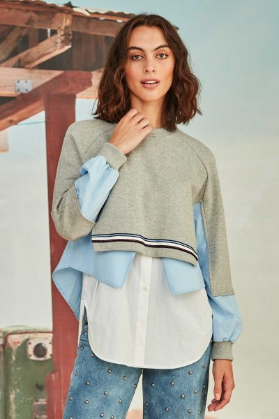 Cooper Layer Cake Top In Grey