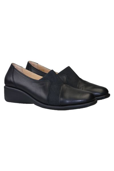 Comfort Wedge Slip On By Relax In Black