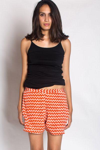 Peach Silk Crop Shorts By Anupamaa