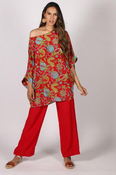 Anupamaa Prisha Floral Top In Red