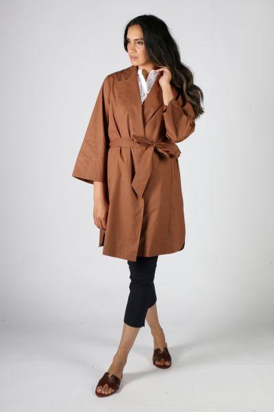 Bagruu Chenla Coat In Bark