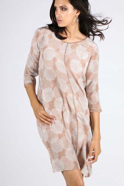 Rasa Beige Silk Aisha Dress