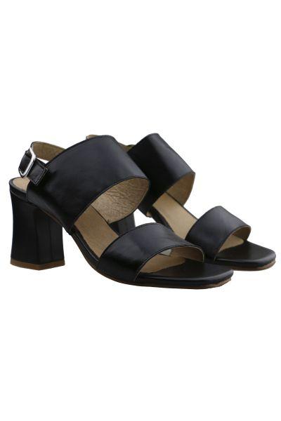 Double Strap Heel by Igualados in Black