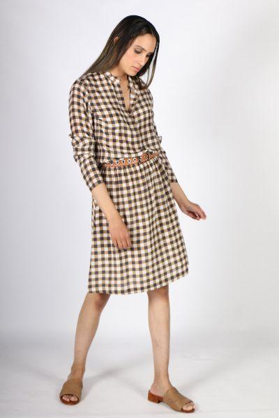 Printed Rasa Nisha Chatt Skirt In Khaki