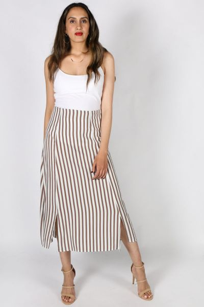 Chalice Russet Reflection Maxi Skirt in Rust