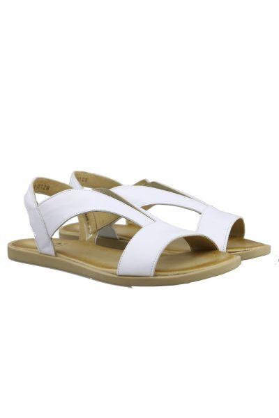 Sempre Di V Front Sandal In White