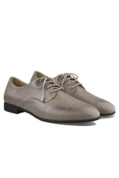 Lace Up Brogue By Sempre Di In Taupe