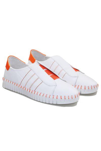 Hanu Sneaker In Orange By Django & Juliette
