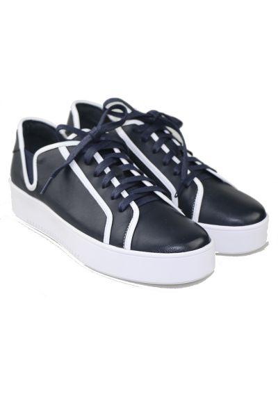 Lemo Sneaker In Navy/White By Django & Juliette