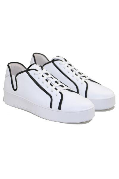 Lemo Sneaker In White/Black By Django & Juliette