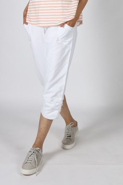 Humidity Jersey Castaway Pant In White
