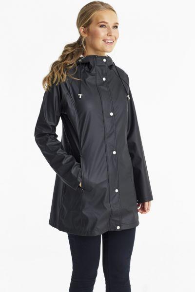 Ilse Jacobsen Hooded Raincoat In Black